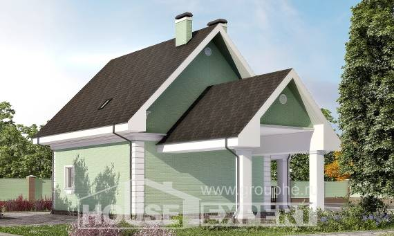 140-003-L Two Story House Plans and mansard with garage under, a simple House Online, House Expert