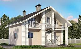 150-002-R Two Story House Plans and mansard with garage in front, a simple Design Blueprints,