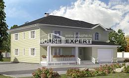 410-002-L Two Story House Plans with garage under, classic Blueprints,