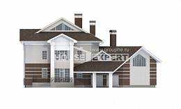 410-001-R Two Story House Plans with garage under, big Blueprints of House Plans,