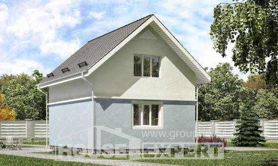 095-002-R Two Story House Plans with mansard roof, a simple House Plans,