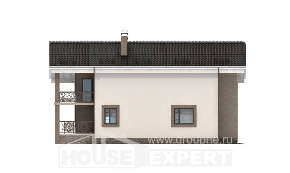 210-003-R Two Story House Plans with mansard, modern House Plans,