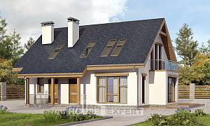 155-012-R Two Story House Plans with mansard roof, modest Design House