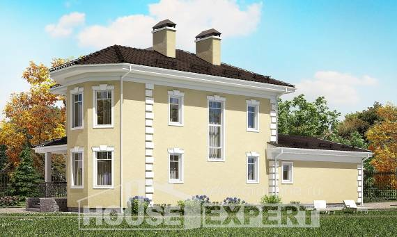 150-006-L Two Story House Plans with garage under, inexpensive Blueprints of House Plans,