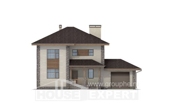 185-004-R Two Story House Plans and garage, luxury Architects House,