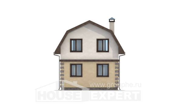 070-004-R Two Story House Plans with mansard, best house Design House,
