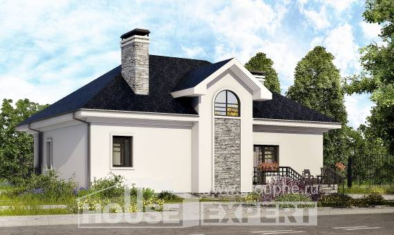 150-008-R Two Story House Plans and mansard, cozy Architects House,