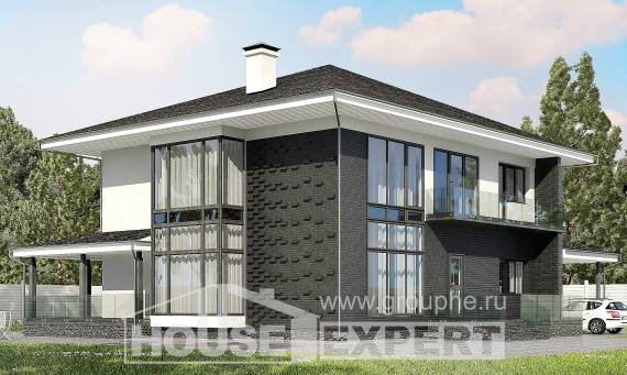 245-002-R Two Story House Plans and garage, average Tiny House Plans,