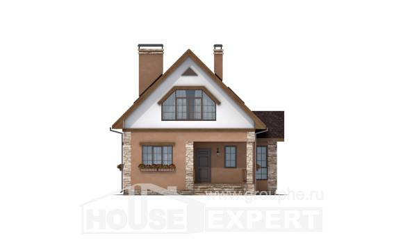 140-002-R Two Story House Plans with mansard, modern Architect Plans, House Expert