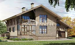 420-001-L Three Story House Plans with mansard roof with garage in front, beautiful Home Plans