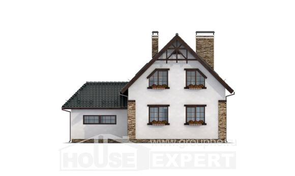160-005-R Two Story House Plans and garage, small Plan Online,