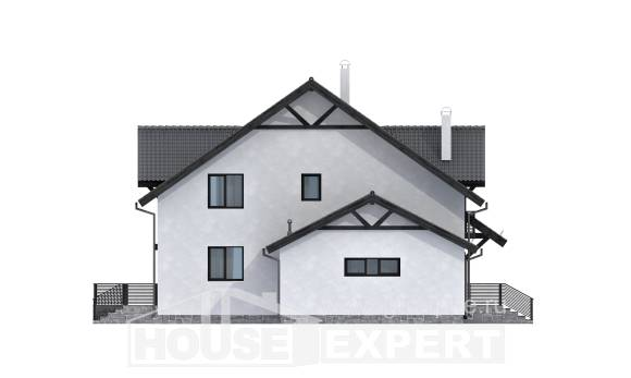 290-003-R Two Story House Plans with mansard and garage, beautiful House Plan,