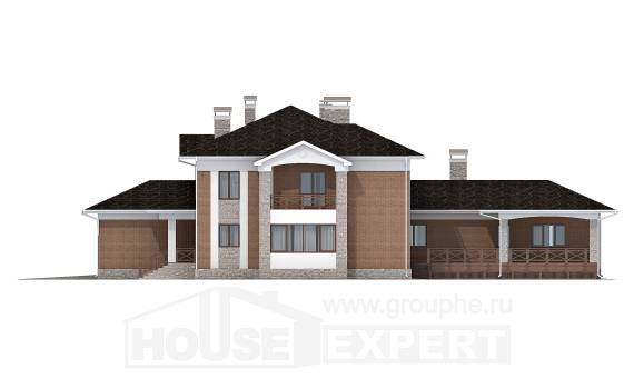 520-002-L Three Story House Plans with garage, classic Floor Plan