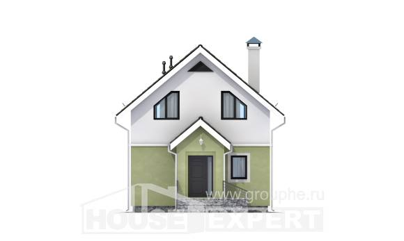 070-001-R Two Story House Plans with mansard roof, modest House Plans,