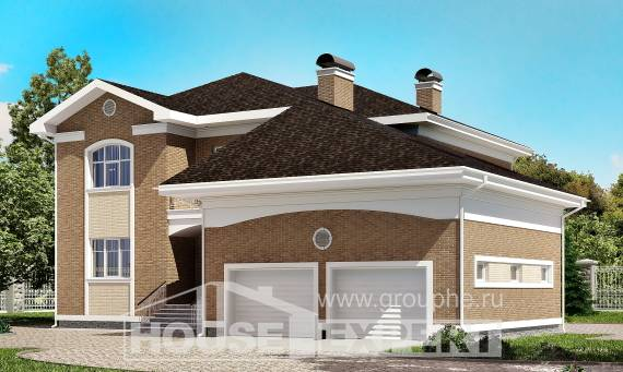 335-002-R Two Story House Plans with garage, classic Architects House,
