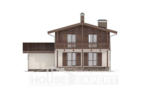 180-018-L Two Story House Plans and mansard with garage in back, modern Plan Online, House Expert
