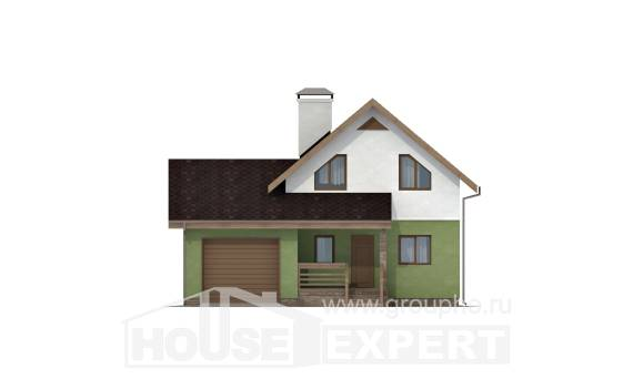 120-002-R Two Story House Plans and mansard with garage, the budget Planning And Design,