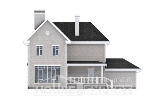 190-001-L Two Story House Plans with garage in front, spacious Architects House,