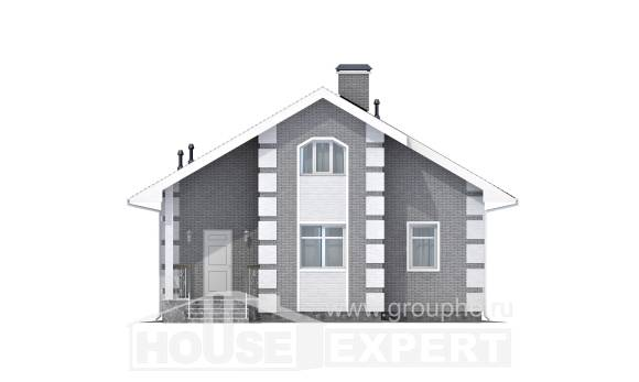 115-001-L Two Story House Plans with mansard, modern House Online,
