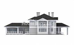 360-001-R Two Story House Plans with garage under, a huge Drawing House,