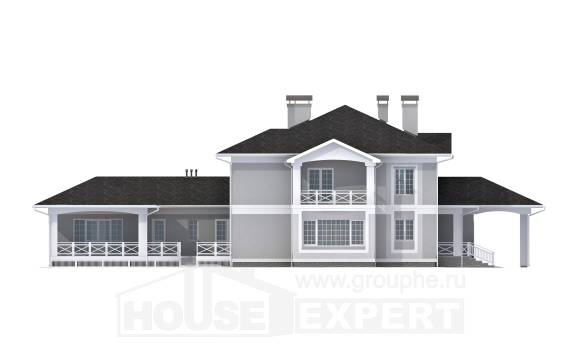 360-001-R Two Story House Plans and garage, a huge Ranch,