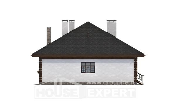 135-003-R One Story House Plans, modest Design Blueprints, House Expert