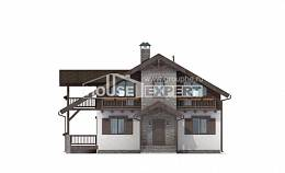 150-004-L Two Story House Plans with mansard roof, modern Drawing House,