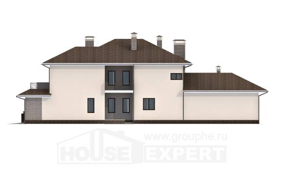 500-001-R Three Story House Plans with garage under, spacious Models Plans,
