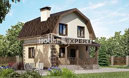 070-004-R Two Story House Plans with mansard roof, the budget Architect Plans,