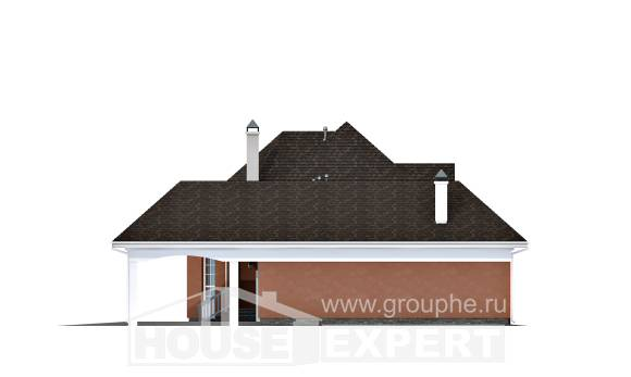 180-007-R Two Story House Plans with mansard roof with garage in back, beautiful Architects House