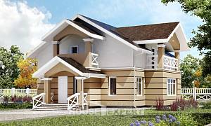 155-009-R Two Story House Plans with mansard roof, classic Blueprints of House Plans