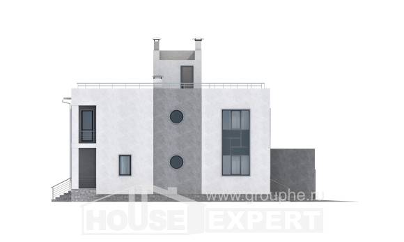 255-001-R Two Story House Plans and garage, big Architects House,