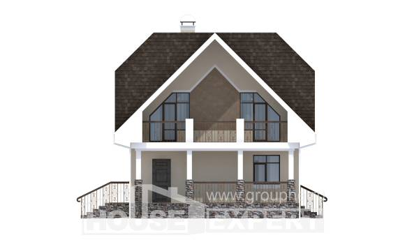 125-001-L Two Story House Plans and mansard, modest Home House, House Expert