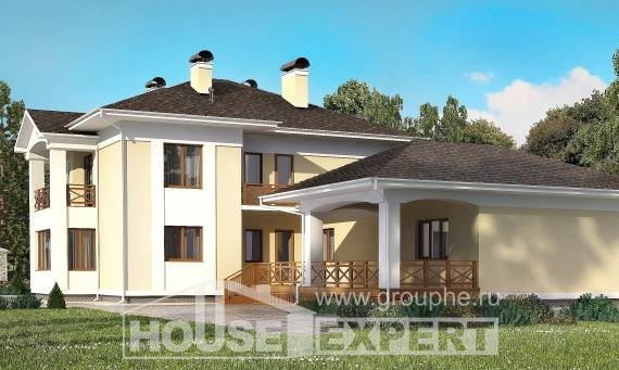 375-002-L Two Story House Plans with garage under, big House Building