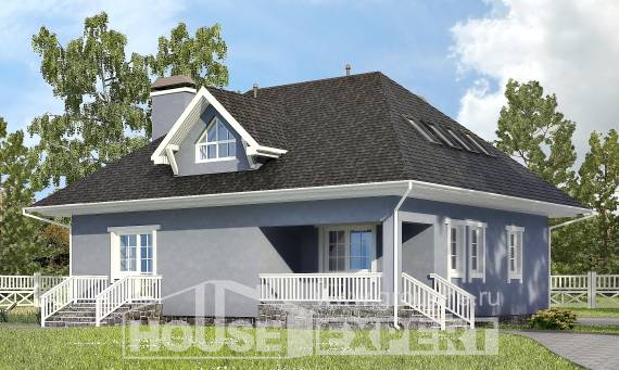 200-001-R Two Story House Plans and mansard with garage in back, beautiful Plan Online, House Expert