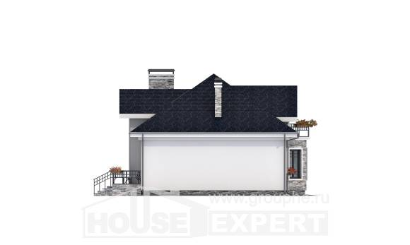 150-008-R Two Story House Plans and mansard, the budget Construction Plans,