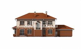 285-001-L Two Story House Plans and garage, cozy House Plans,