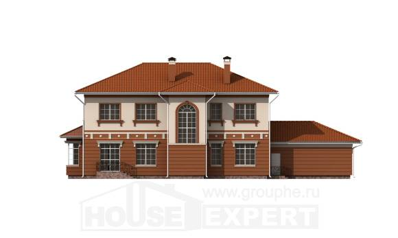 285-001-L Two Story House Plans and garage, a huge Architects House,