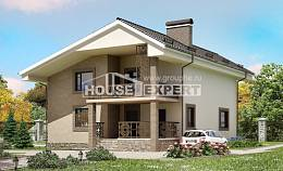 210-003-R Two Story House Plans with mansard roof, spacious Woodhouses Plans,