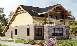 180-011-R Two Story House Plans and mansard and garage, modern Plans Free,