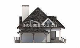 110-002-L Two Story House Plans with mansard with garage, cozy Drawing House,