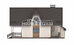 150-001-L Two Story House Plans with mansard with garage in back, compact Drawing House, House Expert