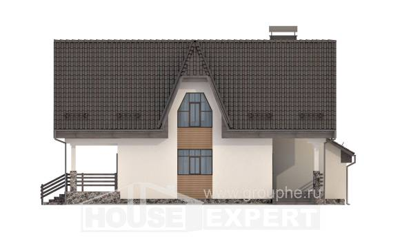 150-001-L Two Story House Plans with mansard roof with garage in front, a simple House Blueprints,