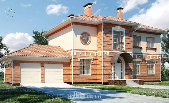 285-001-L Two Story House Plans with garage under, spacious House Plan,