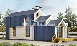 060-006-R Two Story House Plans with mansard, miniature Cottages Plans,