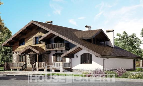 320-002-R Two Story House Plans with mansard roof, cozy Design Blueprints,