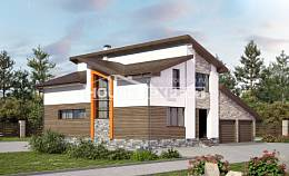 240-004-R Two Story House Plans and mansard and garage, spacious Models Plans, House Expert