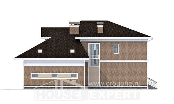 335-002-R Two Story House Plans with garage, classic Custom Home Plans Online,