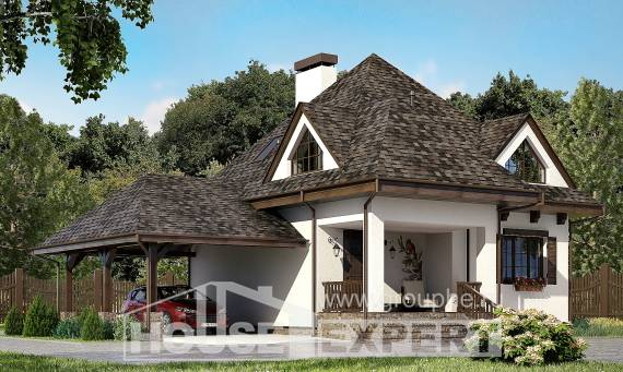110-002-L Two Story House Plans with mansard with garage in front, modest Design Blueprints,