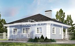 100-001-R One Story House Plans, small House Blueprints,